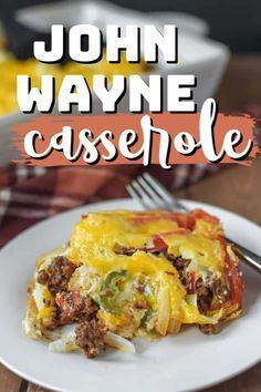 Roast Recipes, Grilling Recipes, Cooking Recipes, Cheese Recipes, Delicious Dinner Recipes, Easy Healthy Recipes, Easy Meals, John Wayne Casserole, Dinner With Ground Beef