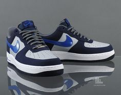 Nike Air Force 1 Low   Blackend Blue   Grey