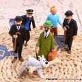 Las aventuras de tintins el secreto del unicornio Tintin PVC figura de acción coleccionables niños Juguetes 6 unids/set