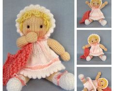 6 Winter Bunnies knitting pattern  INSTANT DOWNLOAD  toy