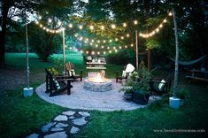 Patio Lighting Ideas Gallery Outdoor Patio Lighting – Make A Plan Patio Lighting Ideas Gallery. Outdoor Patio Lighting can help to transform your house at night and create a more functional p… Fire Pit Backyard, Backyard Patio, Backyard Landscaping, Landscaping Ideas, Backyard Ideas, Firepit Ideas, Garden Ideas, Porch Garden, Patio Ideas With Fire Pit