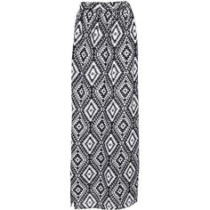 Boohoo Maddy Monochrome Aztec Maxi Skirt (140 CNY) ❤ liked on Polyvore featuring skirts, bottoms, saias, maxi skirts, faldas, long skirts, aztec maxi skirt, long bohemian skirt, floor length maxi skirt and midi skirt