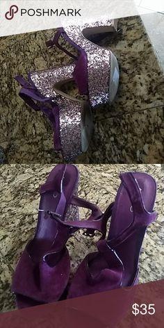 Purple shoes Wedges Aldo Shoes Wedges