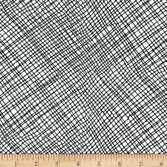 Moda Thicket Crosshatch White/Black from @fabricdotcom  Designed by Gingiber (Zest Your Nest) for Moda, this cotton print collection features modern black, white, and cream motifs, with some cute critters thrown in for good measure. Perfect for quilting, apparel, and home decor accents.