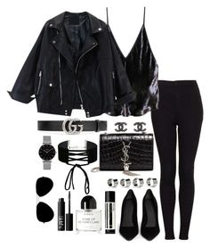 """Untitled #3857"" by theeuropeancloset on Polyvore featuring Topshop, Fleur du Mal, Alexander Wang, Gucci, Yves Saint Laurent, Maison Margiela, Chanel, Miss Selfridge, Aesop and Byredo"