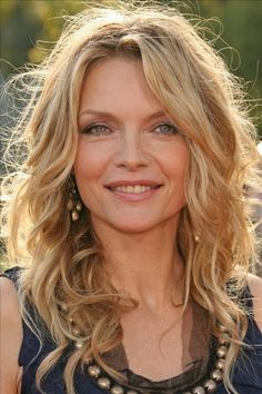 Medium hair-Michelle Pfieffer ; she's old, and is still beautiful