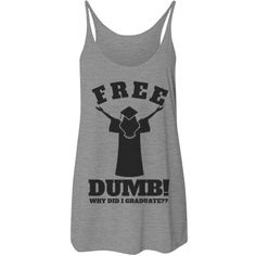 I Graduated! OH NO! Funny Tank Top. Funny Graduation Gifts for high school graduates and college grads!