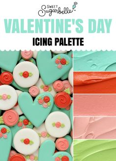 Week 3 challenge— Pretty Valentine's Day Icing Palette – The Sweet Adventures of Sugar Belle Cookie Icing, Royal Icing Cookies, Sugar Cookies, Cookies Et Biscuits, Owl Cookies, Cookie Cutters, Heart Cookies, Valentines Baking, Valentines Day Cookies