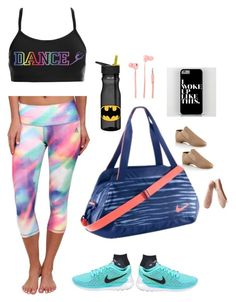 """Dance Practice"" by onceuponamersuperwholock ❤ liked on Polyvore featuring NIKE, adidas, ZAK, Merkury Innovations and Porselli"