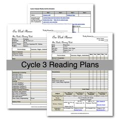 Half-a-Hundred Acre Wood: Cycle 3 Reading Plans  (I like the plan with the readers and picture books included, and the Activity planner.)