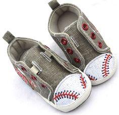 Gray New Baby Boy Baseball Crib Walking Shoes 2 3 | eBay
