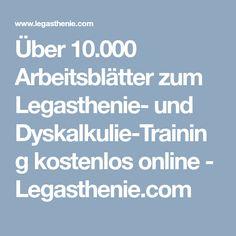 Über 10.000 Arbeitsblätter zum Legasthenie- und Dyskalkulie-Training kostenlos online - Legasthenie.com