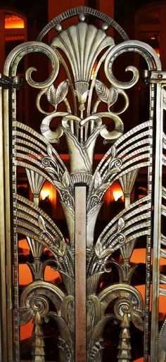 Ornamental Grille at The Cincinnati Hilton, Netherland Plaza Hotel
