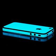Blue Glow in the Dark iPhone Skin