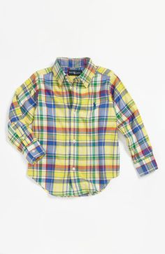 Ralph Lauren Woven Shirt (Toddler) | Nordstrom