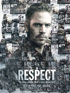 Poster en honor a Paul Walker por BossLogic - #Respect