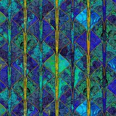 Jewel-bright dragon scales fabric by su_g on Spoonflower - custom fabric