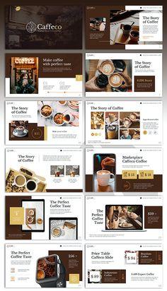 Coffee Presentation, Presentation Board Design, Presentation Templates, Page Layout Design, Web Design, Powerpoint Design Templates, Catalog Design, Graphic Design Branding, Brochure Layout