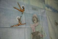 Prisoner's 39-Panel Allegorical Mural Made From Bedsheets, Hair Gel and Stacks of Newspapers