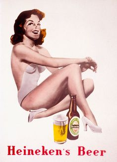 This beer advertisement sexualizes women in a manner that will attract a male audience, for beer, since in advertising only men drink beer.
