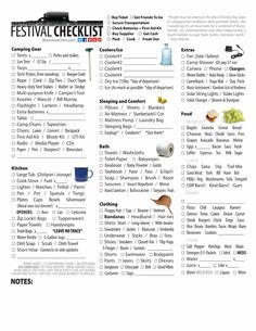 I Love Bonnaroo: Music Festival Checklist