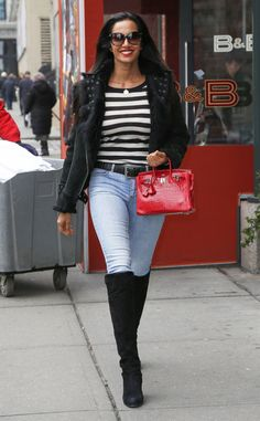 Padma Lakshmi from The Big Picture: Today's Hot Pics  Striped beauty! The Top Chef star goes for a walk in New York City.