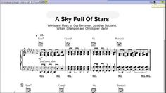 a sky full of stars notes - Szukaj w Google