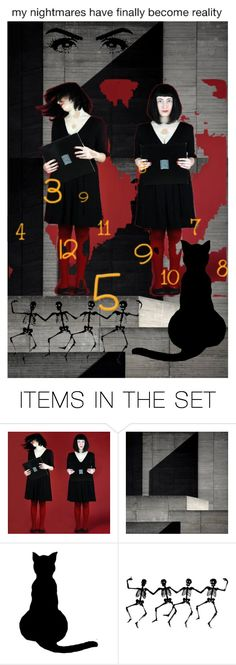 """*my nightmares have finally become reality*"" by karineg ❤ liked on Polyvore featuring art"