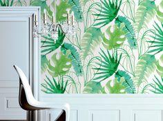 Papier peint tropical ! http://www.m-habitat.fr/murs-facades/revetements-muraux/le-papier-peint-mural-914_A