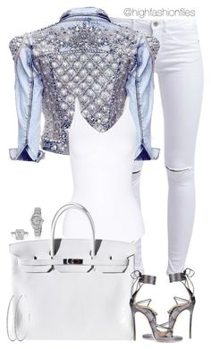 """""""Untitled #2697"""" by highfashionfiles on Polyvore featuring ONLY, Yummie by Heather Thomson, Dsquared2, Hermès and Rolex"""
