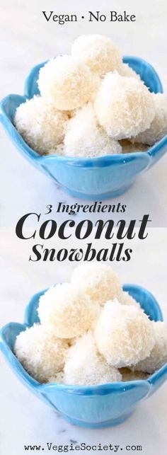 Easy, no bake coconut snowballs recipe made with only 3 ingredients: raw coconut, coconut cream and nectar (the nuts are optional). How About Some Homemade Raffaello Coconut Snowballs ? Kokos Desserts, Coconut Desserts, No Bake Desserts, Coconut Cookies, Coconut Sweet Recipes, Coconut Ideas, Baking Desserts, Party Desserts, Party Snacks
