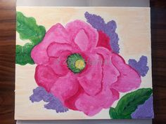 finished flower painting. on canvas