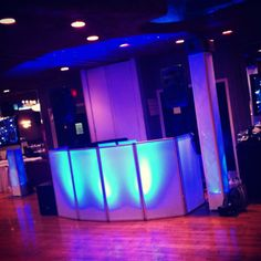 No more putting your gear on a banquet table.   Light up DJ facades are fun & cool.   My inspiration are my friends from SCE Group