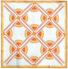 Mountain Mist New York Beauty quilt, c. 1930.  Collection of Bill Volckening