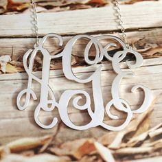Silver Monogram Initial Monogram Necklace,Any Name Letter inch Personalized Necklace,Christmas Handmade This inch Personalized monogram necklace is one of the most special and personal pieces of jewelry you can own or give as a gift. This monogram, made Sterling Silver Monogram Necklace, Monogram Jewelry, Monogram Initials, Nameplate Necklace, Personalized Jewelry, Necklace Charm, Engraved Necklace, Initial Necklace, Rose Gold Plates