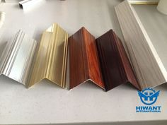 Colorful  angle type aluminum profile for protecting  corners formed by two walls.