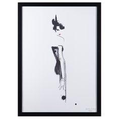 Lilla Mademoiselle i Lilla Svarta, 50x70 från Lovisa Burfitt – Köp online på Rum21.se