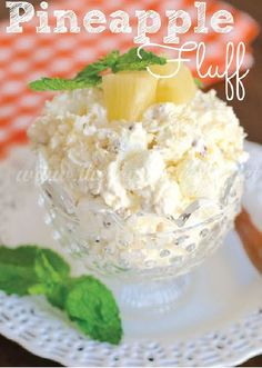 Pineapple Fluff — This fruity dessert is full of creamy marshmallow goodness. Serve this easy no-bake treat at your next party and be prepared to wow your guests with this quick and easy recipe!