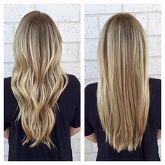 Here's Every Last Bit of Balayage Blonde Hair Color Inspiration You Need. balayage is a freehand painting technique, usually focusing on the top layer of hair, resulting in a more natural and dimensional approach to highlighting. Long Hair Cuts Straight, Balayage Straight Hair, Balayage Blond, Short Hair Cuts, Straight Hairstyles, Cool Hairstyles, Blonde Highlights, Shortish Hair, Fall Blonde