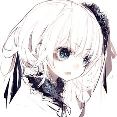 character albino little kid child