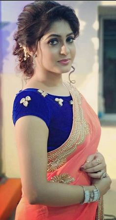 New & Latest boat neck blouse designs 2019 - New Blouse Designs Beautiful Girl Indian, Most Beautiful Indian Actress, Beautiful Saree, Saree Hairstyles, Indian Wedding Hairstyles, Beauty Full Girl, Beauty Women, Blouse Neck Designs, Latest Blouse Designs