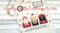 DIY fácil! Saco para regalos Reyes Magos de @estampatutela Reusable Tote Bags, Christmas, Sacks, Xmas, Navidad, Noel, Natal, Kerst