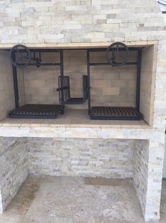 NorCal Ovenworks' Outdoor Kitchen Diary: Another Installation Front Facing Worm Gear Driven. Outdoor Kitchen Bars, Pizza Oven Outdoor, Backyard Kitchen, Outdoor Cooking, Outdoor Kitchens, Design Barbecue, Grill Design, Asado Grill, Bbq Grill