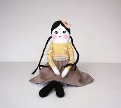 Handmade doll Cloth Doll by FunCreationslab