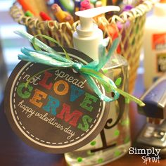 Love can be messy at times, and so can the little hands in our classrooms! A cute and practical gift for a teacher, clinic nurse, or fron...