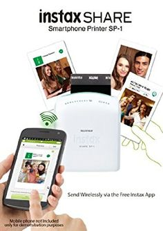 Fujifilm Instax Share Smartphone Printer SP-1 with Fujifilm Instax Mini Instant Film 20 Sheets