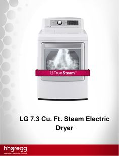 Dry your clothes and reduce wrinkles in just 20 minutes using the LG-Steam-Electric-Dryer
