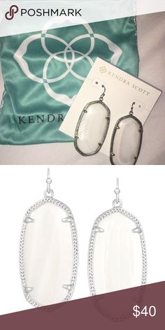 Kendra Scott Danielle pearl and silver earrings Kendra Scott Jewelry Earrings