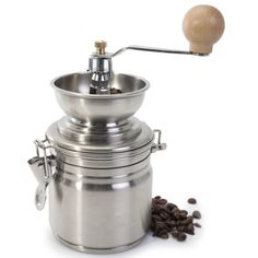 -- Discover this special product, click the image: Stainless Steel 17 ounce Manual Coffee Grinder at Coffee Machine. Best Coffee Grinder, Coffee Enema, Manual Coffee Grinder, Best Coffee Maker, Coffee Grinders, Espresso Machine Reviews, Coffee Maker Reviews, Coffee Beans, Coffee Cups