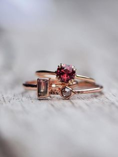 Octagon Garnet Ring Make it yours!